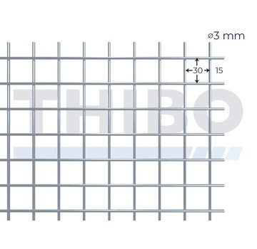 Thibo Mesh panel 2000x1000 mm - 30x30x3,0 mm