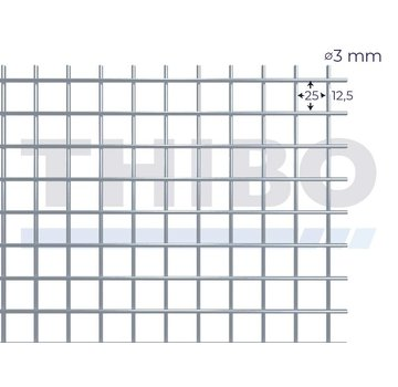 Thibo Stahlmat 2000x1000 mm - 25x25x3,0 mm