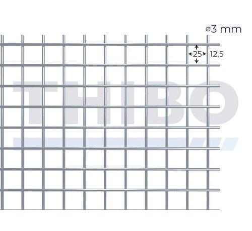 Thibo Gaaspaneel 2 x 1 meter met maas 25 x 25 mm, uit blanke draad 3,0 mm