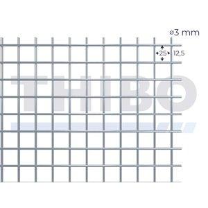 Mesh panel 3000x1000 mm - 25x25x3,0 mm