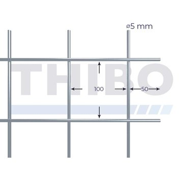 Thibo Stahlmat 3000x2000 mm - 100x100x5,0 mm