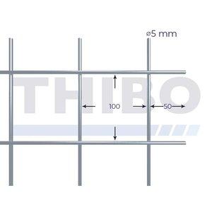 Mesh panel 3000x1500 mm - 100x100x5,0 mm
