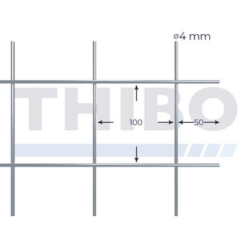 Thibo Mesh panel 3000x1500 mm - 100x100x4,0 mm