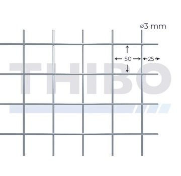 Cementdekvloernet, 3000x2000 mm - 50x50x3,0 mm