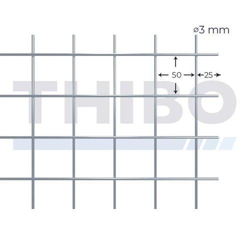 Cementdekvloernet, 3000x2000 mm met maas 50x50 mm, uit voorverzinkte draad 3,0 mm