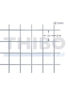 Thibo Cementdekvloernet, 2 x 1 meter - 50 x 50 x 2,0 mm