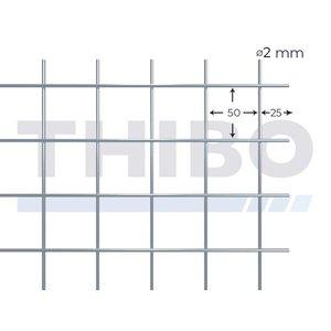 Mesh panel 2000x1000 mm - 50x50x2,0 mm