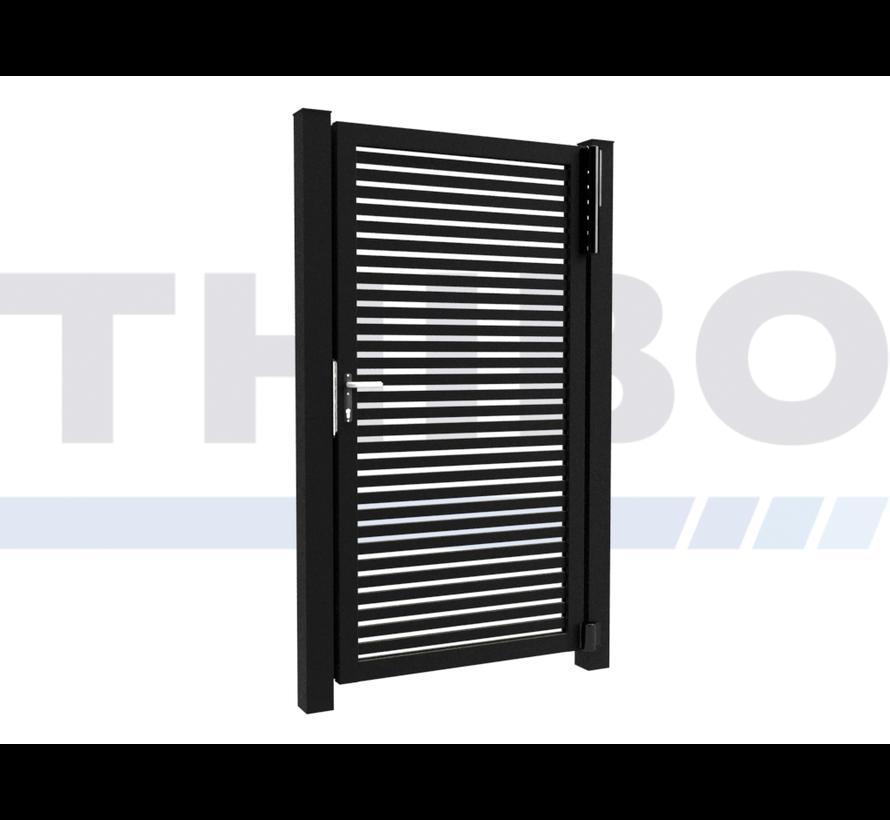 Single design Swing gate Modius Trento H40