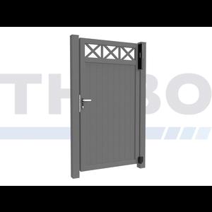 Hitmetal Portail pivotant simple Modius Crosso V10