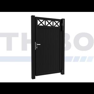 Hitmetal Single swing gate Modius Crosso V10