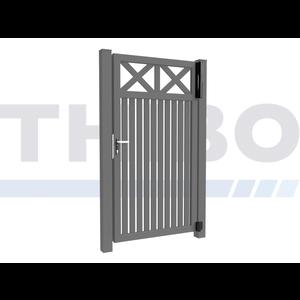 Hitmetal Single swing gate Modius Crosso V60