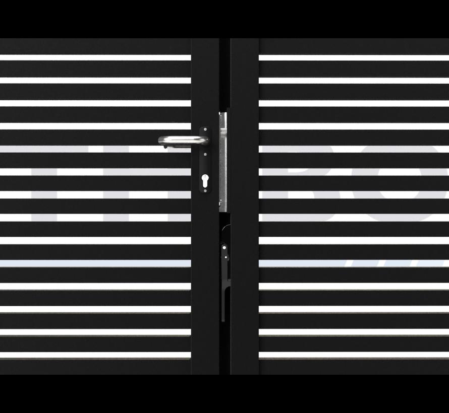 Dubbele design draaipoort Modius Trento H40