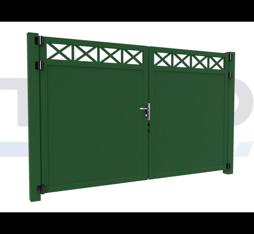 Double design Swing gate Modius Crosso V10