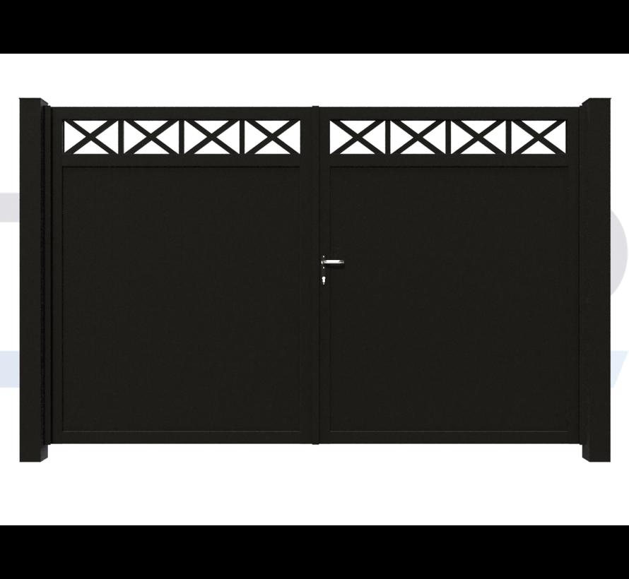 Doppeltes design Drehtor Modius Crosso V10