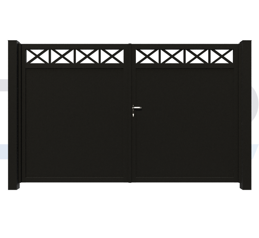 Dubbele design draaipoort Modius Crosso V10