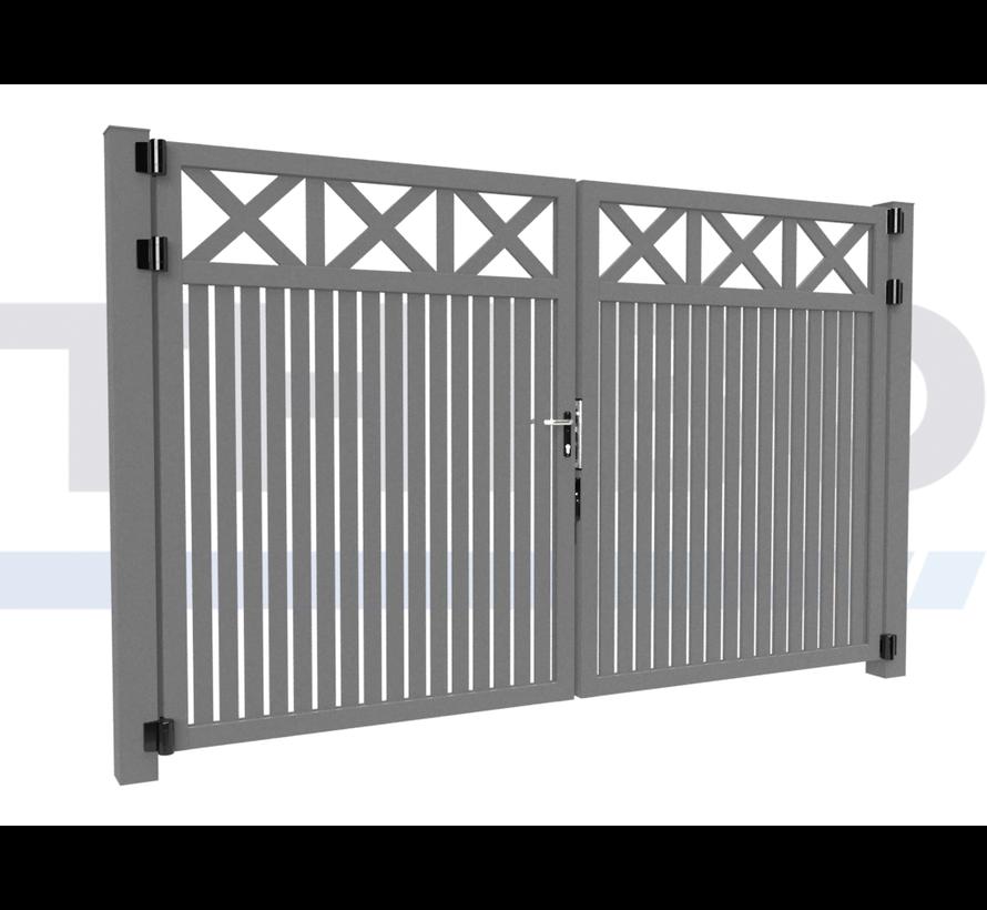 Double design Swing gate Modius Crosso V60
