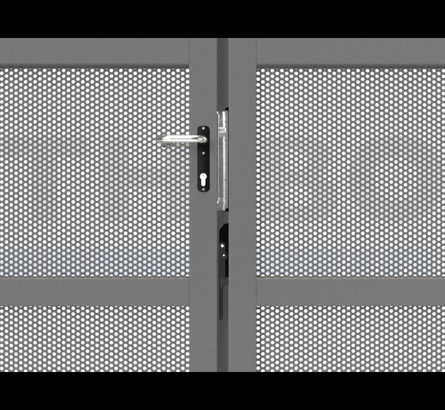 Dubbele design draaipoort Modius Polkadot R10