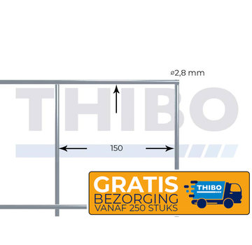 Thibo Underfloor heating mesh (10 pc.) 2100x1200 mm - 150x150x2,8 mm