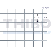 Stahlmat 2000x1600 mm - 50x50x4,0 mm