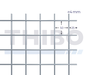 Gaaspaneel 2 x 1,6 meter met maas 50 x 50 mm, uit voorverzinkte draad 4,0 mm