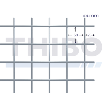 Thibo Stahlmat 5000x2000 mm - 50x50x4,0 mm