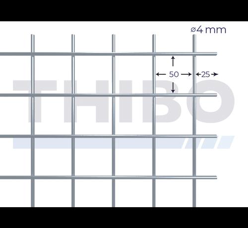 Thibo Stahlmat 2500x2000 mm mit Masche 50x50 mm, gepunktgeschweißt aus GalfanDraht 4,0 mm (95% Zink, 5% Aluminium)