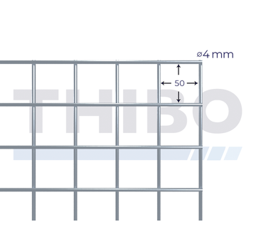 Thibo Mesh panel 2100x2100 mm - 50x50x4,0 mm