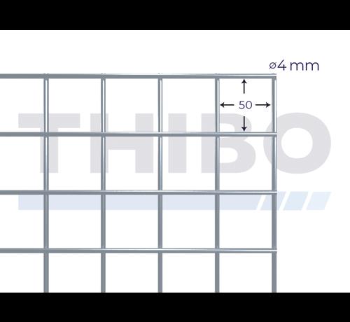 Thibo Stahlmat 2100x2100 mm mit Masche 50x50 mm, gepunktgeschweißt aus GalfanDraht 4,0 mm (95% Zink, 5% Aluminium)
