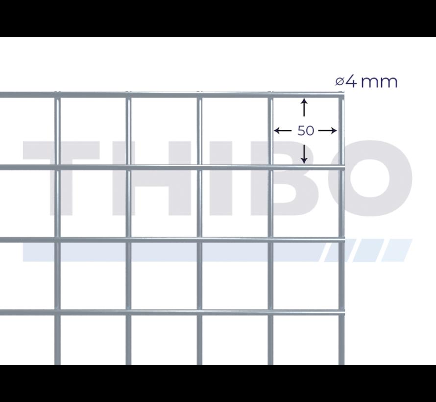 Stahlmat 2100x2100 mm mit Masche 50x50 mm, gepunktgeschweißt aus GalfanDraht 4,0 mm (95% Zink, 5% Aluminium)