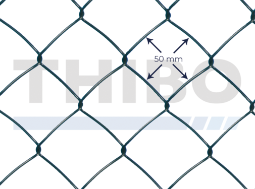 Chain link wire 50 x 50 mm standard
