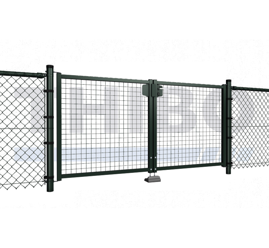 Double garden gate with wire mesh 50x50 mm