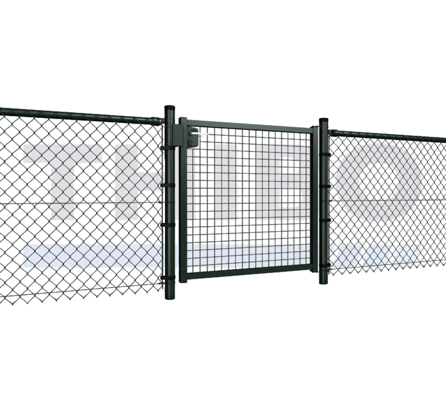 Single garden gate with wire mesh 50x50 mm