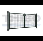 Single wire mesh double garden gate