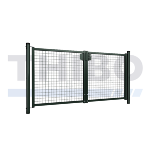Single wire mesh double garden gate