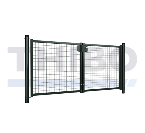 Thibo Double garden gate with wire mesh 50x50 mm