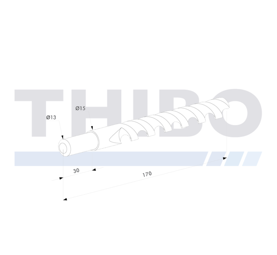 Drilling bit Ø 15 mm with drill-chuck Ø 13 mm