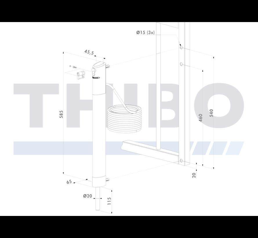 Motorised electrical drop bolt - Electradrop