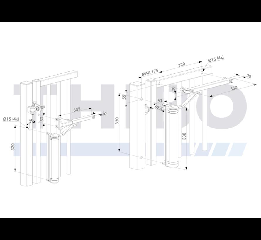 Compacte en veelzijdige poortsluiter, geschikt voor elke poortsituatie - Lion