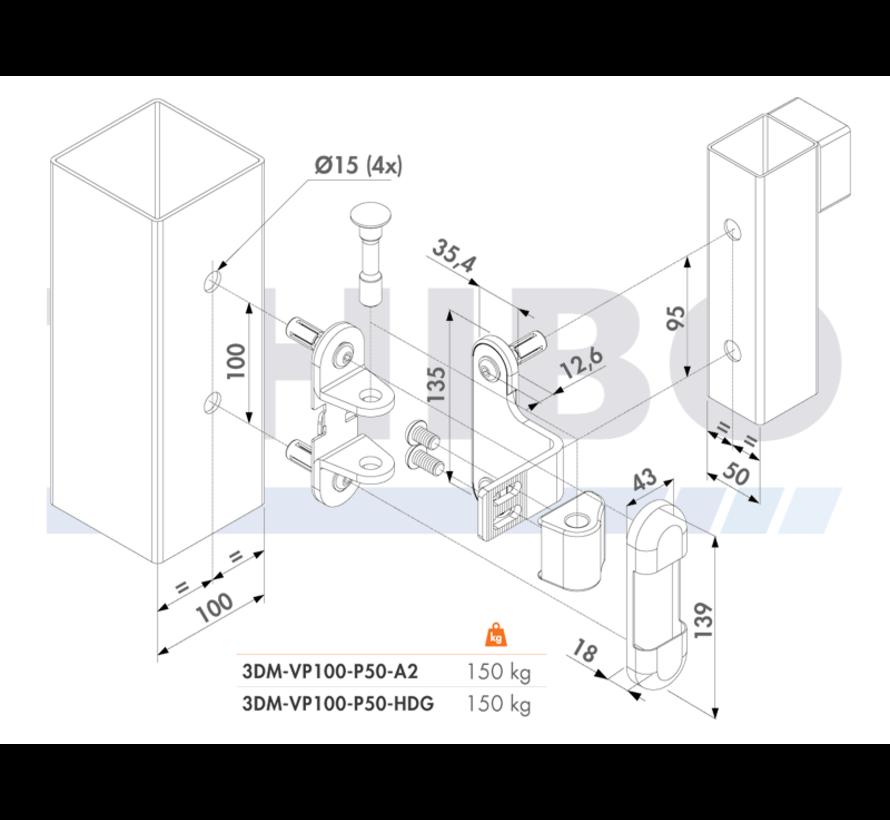 3-way adjustment hinge