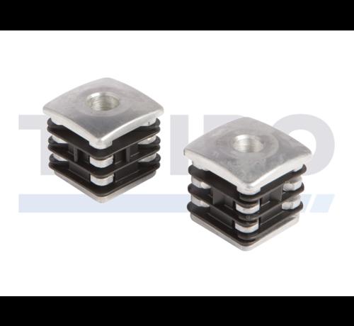 Locinox Aluminium reinforced post plug for hinges