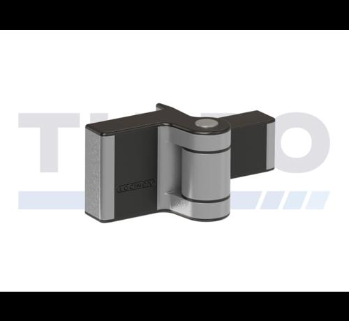 Locinox Compact 2-way adjustable 180° surface mounted hinge - Puma