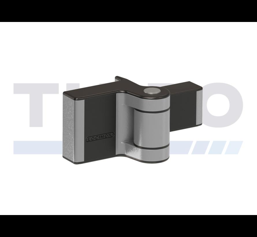 Compact 2-dimensionaal verstelbaar 180° opbouwscharnier - Puma