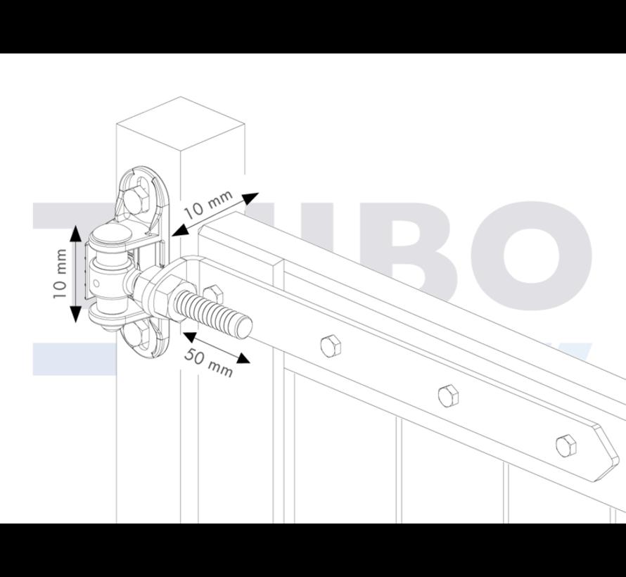 3-dimensioneel regelbaar 180° roestvrij scharnier