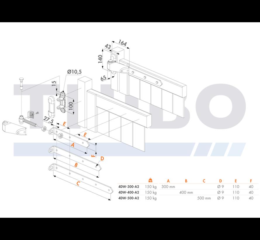 Anti-Sabotage 4D-Torband für Holztore