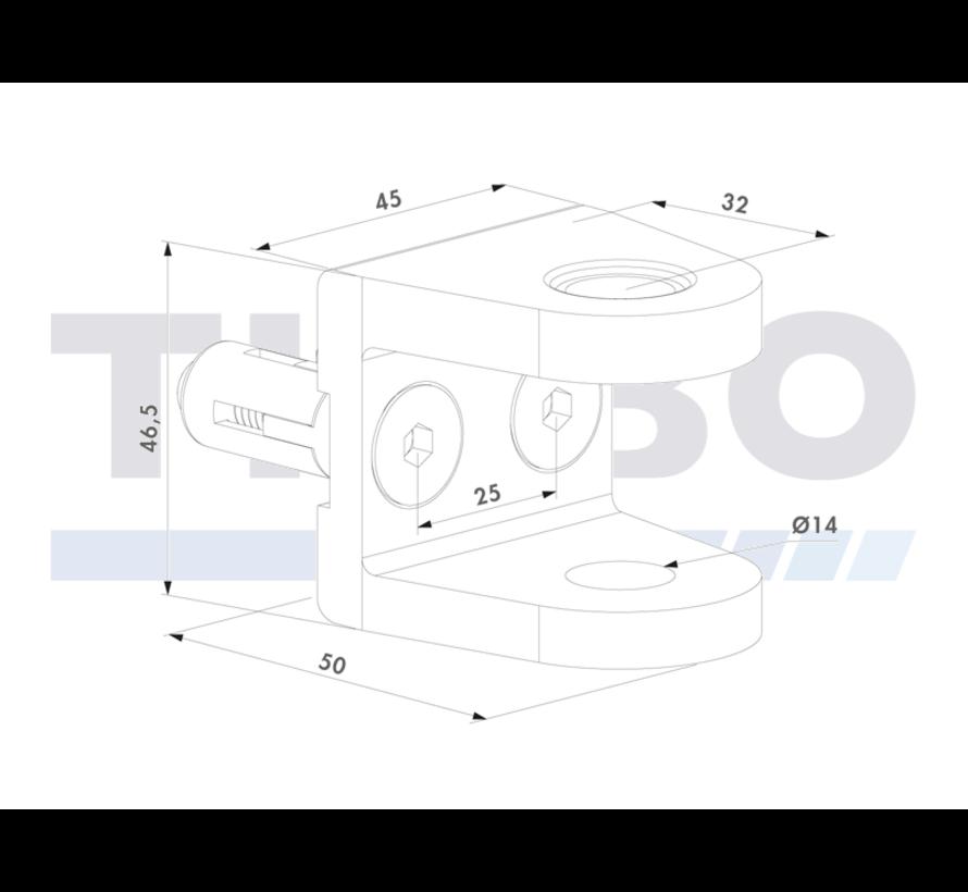 Aufschraubbare U-Stoßplatte mit Quick-Fix-Befestigungssystem