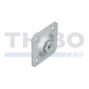 Locinox Wallplate hot-dip galvanized