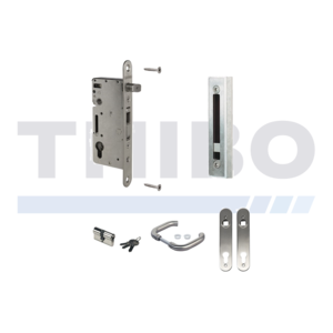Locinox Complete, stainless steel insert lock set for wooden gates