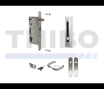 Locinox Complete, stainless steel insert lock set for wooden gates