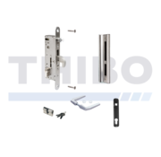 Thibo Complete, stainless steel insert lock set for metal and aluminium gates