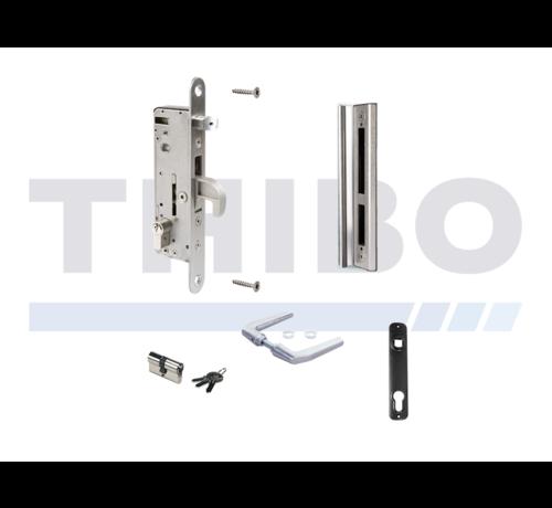 Locinox Complete, stainless steel insert lock set for metal and aluminium gates